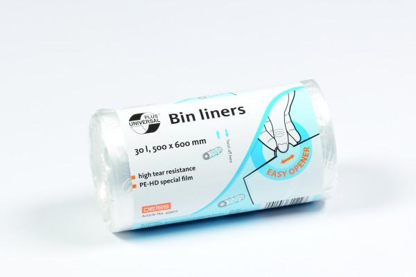 UNIVERAL Müllbeutel, 30 Liter transparent