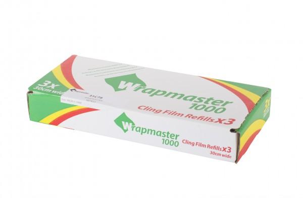 PVC Frischhaltefolie für Wrapmaster 1000, 30 cm x 100 m